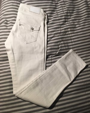 H&M Pantalon cinq poches blanc