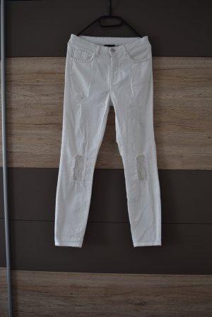 Jeans skinny bianco Cotone