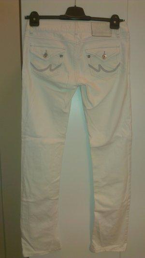 weiße Jeans LTB Nieten Silber Gr. 38/40