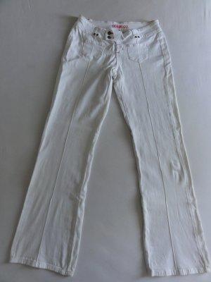 °°°Weisse Jeans-Schlaghose, 70ties, TOP°°°