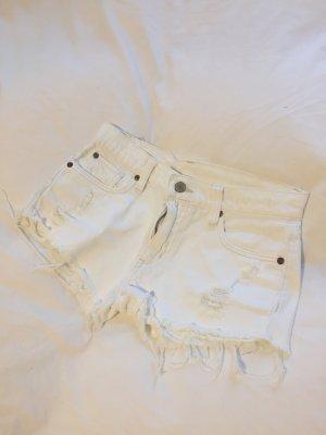 Weiße Jeans-Short im destroyed Look von Denim&Supply Ralph Lauren