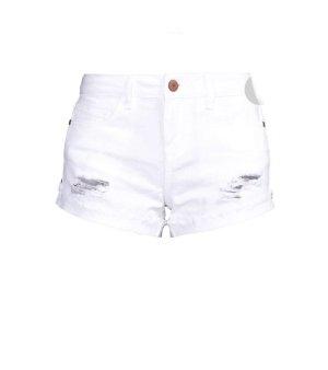 Noisy May Pantalón corto de tela vaquera blanco