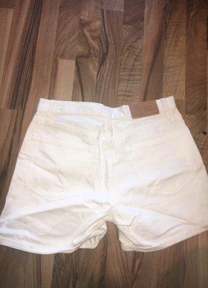 Weiße Jeans Shorts