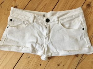 Weiße Jeans Shorts, used Look, 36