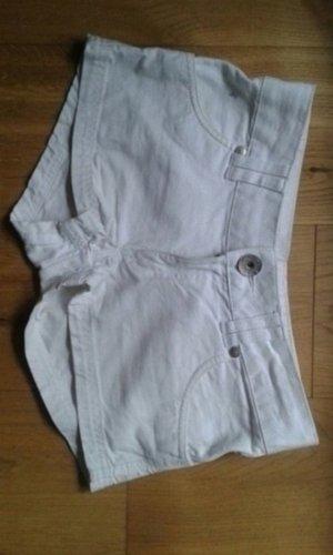 Weisse Jeans-Shorts von H&M