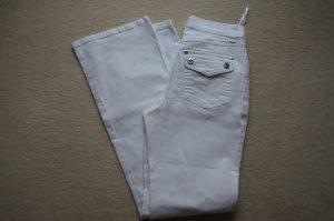 weiße Jeans, Sommerhose von Heine Gr. 17 34 XS Bootcut