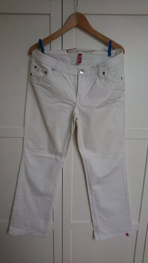 Weiße Jeans straight von edc Esprit, 31 kurz