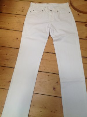 7 For All Mankind Straight Leg Jeans white mixture fibre