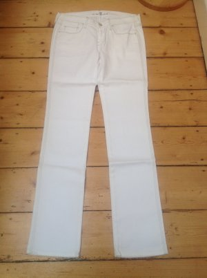 7 For All Mankind Vaquero rectos blanco tejido mezclado