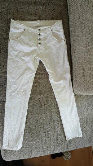 weiße jeans von bottega