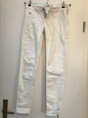 Weiße Jeans von Hollister, schmal geschnitten
