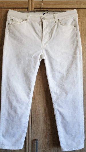 Weiße Jeans von Seven for all Mankind - Gr. 31 Modell Roxanne