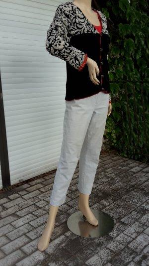 # weiße Jeans von VANILIA, 7/8 Capri, Gr. 38, elastisch, highwaist