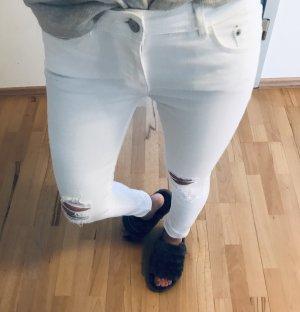 Zara Trafaluc Jeans cigarette blanc