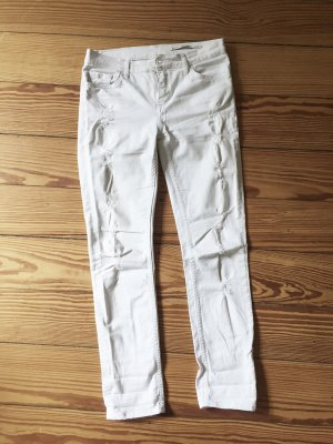 Weisse Jeans weiß von ZARA Woman Skinny Jeans Relaxed 34 destroyed