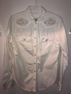 Hollister Jeans blouse wit-camel