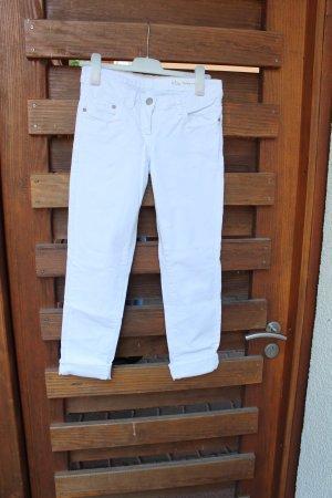 Weiße Jeanshose aus dickem Stoff