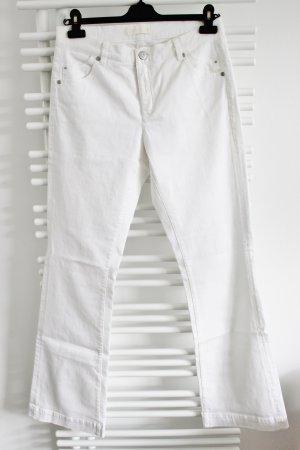 Weiße Jeanshose mit weitem Bein/ Schlaghose Größe 40 Raffaello Rossi Modell UMA