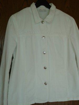 Bonita Veste en jean blanc coton