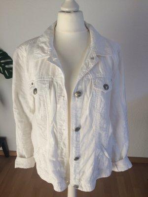 Weiße Jeansjacke aus Leinen