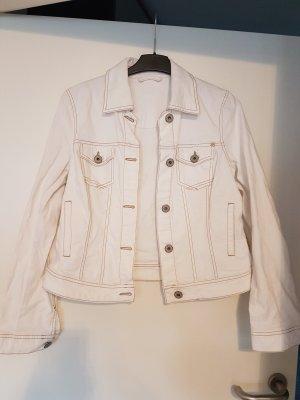 weiße Jeansjacke gr L Madison Italy