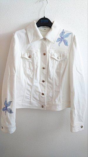 Weiße Jeansjacke von Escada