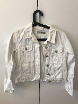 Weiße Jeansjacke von Topshop