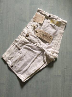 Weiße Jeansshort Neu