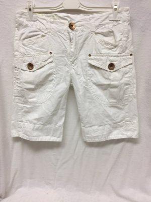 Weiße Jeansshorts, Cargostil