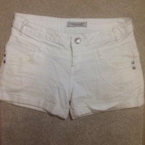 Weiße Jeansshorts Größe 36