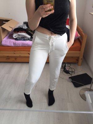 Bershka Pantalon «Baggy» blanc