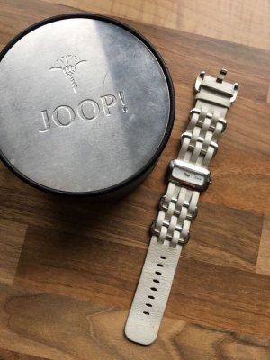 Weiße JOOP! Uhr mit einem Lederarmband