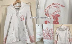 Weiße Kapuzen-Jacke von Blutsgeschwister