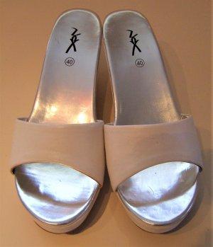 Plateauzool sandalen wit kunststof