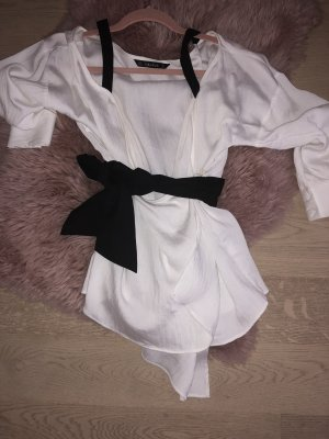 Weiße Kimono Bluse
