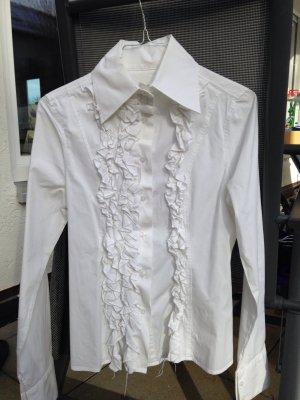 Weiße klassische Bluse