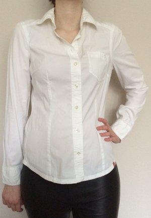 Weiße klassische Bluse EDC Basic Esprit