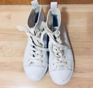 Weiße knöchelhohe Sneaker in Größe 37