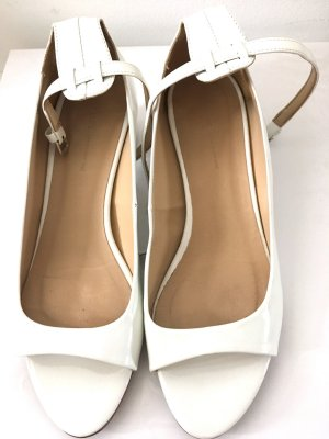 Weisse Kunstleder Schuhe von Zara gr36
