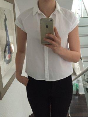 Weiße kurz geschnittene Bluse von zara