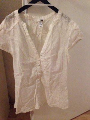 Weiße kurzärmelige Bluse von H&M
