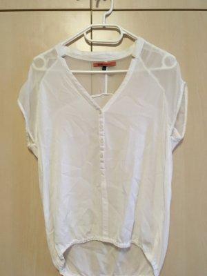 Weiße kurzärmlige Bluse