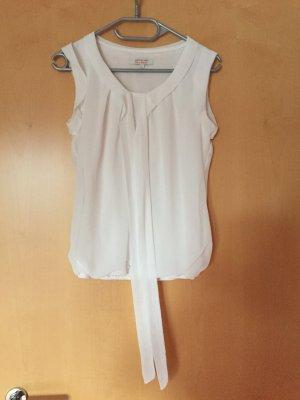 weiße kurzärmlige Bluse von Clockhouse, Größe 34