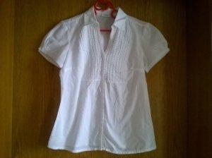 weiße, kurzärmlige Bluse von Tschibo