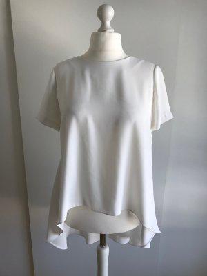 Weiße Kurzarm-Bluse