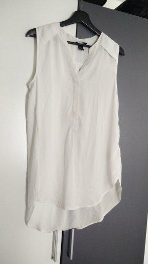 Weiße kurzarm Bluse