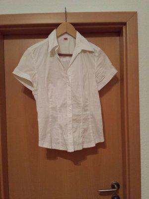 weiße Kurzarm-Bluse / Hemd von s.Oliver, Gr. 38