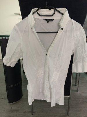 Weiße kurzarm Bluse mit Puffärmel