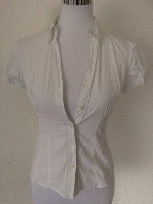 weiße Kurzarmbluse / Bluse kurzarm von Orsay - Gr. XS