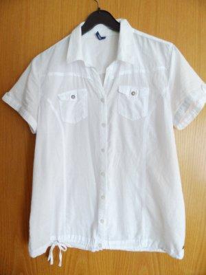 Weiße Kurzarmbluse von Cecil, Gr. M